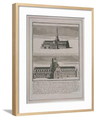 St Paul's Cathedral, London, C1650-80--Framed Art Print