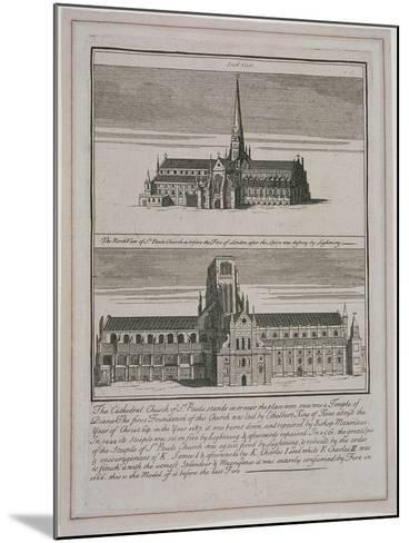 St Paul's Cathedral, London, C1650-80--Mounted Giclee Print