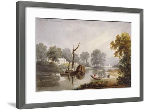 Pope's Villa, Twickenham, Middlesex, C1820--Framed Art Print