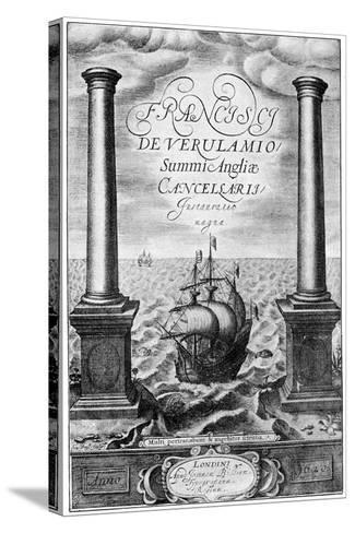 Title Page of Francis Bacon's Instauratio Magna, 1620--Stretched Canvas Print