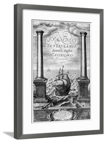 Title Page of Francis Bacon's Instauratio Magna, 1620--Framed Art Print