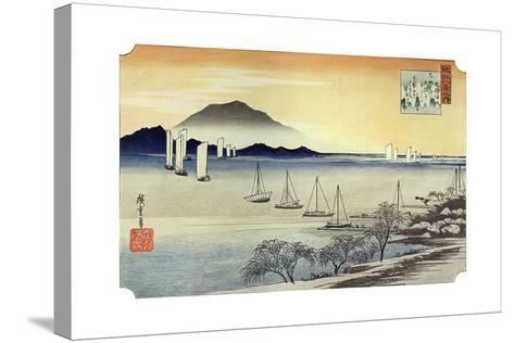 Yabase No Kihan. Fishing Boats Returning to Yabase, C1834-Ando Hiroshige-Stretched Canvas Print