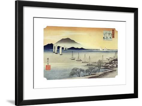 Yabase No Kihan. Fishing Boats Returning to Yabase, C1834-Ando Hiroshige-Framed Art Print