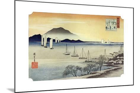 Yabase No Kihan. Fishing Boats Returning to Yabase, C1834-Ando Hiroshige-Mounted Giclee Print