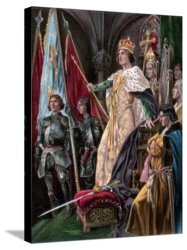 The Exhortation Addressed to Edward IV, Westminster, 29 June 1461--Stretched Canvas Print