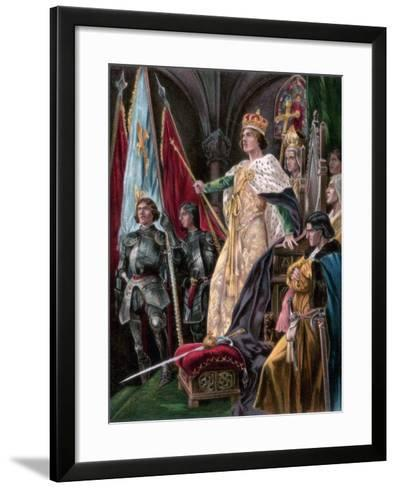 The Exhortation Addressed to Edward IV, Westminster, 29 June 1461--Framed Art Print