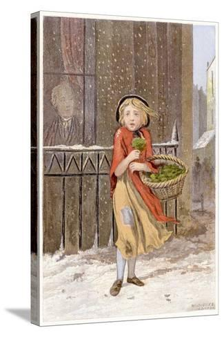 Watercress Seller, C1880--Stretched Canvas Print