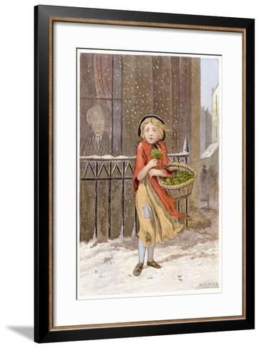Watercress Seller, C1880--Framed Art Print