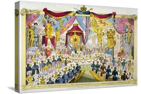 Royal Opening of London Bridge, 1831--Stretched Canvas Print