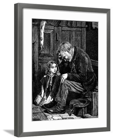 Man at Church Sitting in 'Free' Seat, London, 1872-John Emms-Framed Art Print