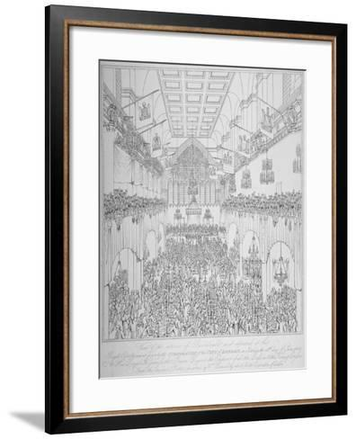 Banquet at the Guildhall, City of London, 1814-William Daniell-Framed Art Print