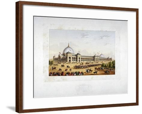 Site of the 1862 International Exhibition, Cromwell Road, Kensigton, London, 1862--Framed Art Print