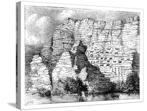 A Rock Inscription on the Banks of the Yenisei River, 1895--Stretched Canvas Print