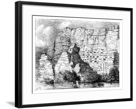 A Rock Inscription on the Banks of the Yenisei River, 1895--Framed Art Print