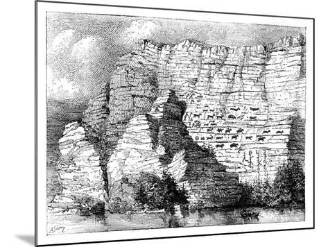 A Rock Inscription on the Banks of the Yenisei River, 1895--Mounted Giclee Print