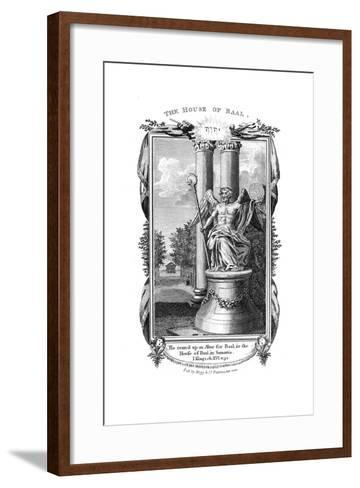 Baal, Chief God of the Canaanites, 1804--Framed Art Print