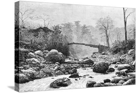 A Bridge over the Rangit, a Tributary of the River Teesta, India, 1895--Stretched Canvas Print