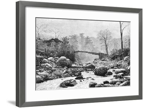 A Bridge over the Rangit, a Tributary of the River Teesta, India, 1895--Framed Art Print