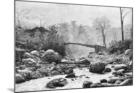 A Bridge over the Rangit, a Tributary of the River Teesta, India, 1895--Mounted Giclee Print