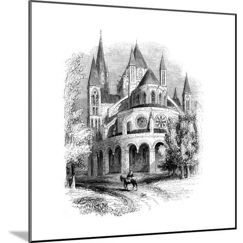 Abbaye Aux Hommes, Caen, Normandy, France--Mounted Giclee Print