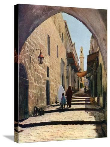 A Street in Jerusalem, Israel, 1926--Stretched Canvas Print