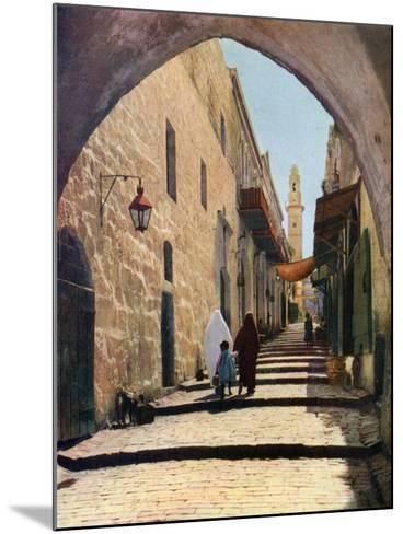 A Street in Jerusalem, Israel, 1926--Mounted Giclee Print