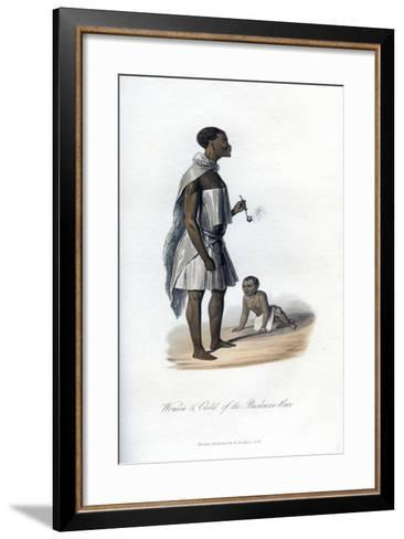 Woman and Child of the Bushman Race, 1848--Framed Art Print