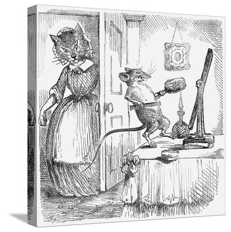 A Mouse on a Dressingtable, 1859--Stretched Canvas Print