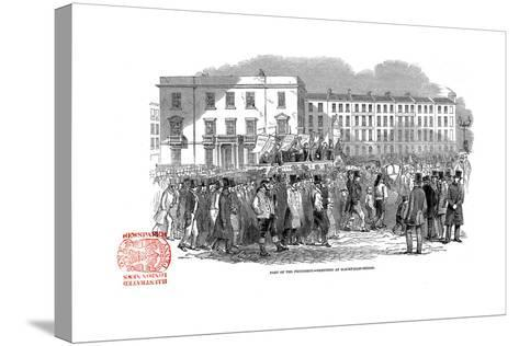 Chartists Procession from the Mass Meeting Towards Blackfriars Bridge, London, 10 April 1848--Stretched Canvas Print