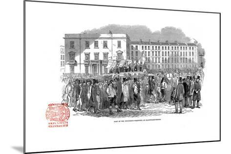 Chartists Procession from the Mass Meeting Towards Blackfriars Bridge, London, 10 April 1848--Mounted Giclee Print