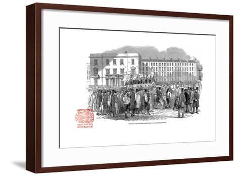 Chartists Procession from the Mass Meeting Towards Blackfriars Bridge, London, 10 April 1848--Framed Art Print