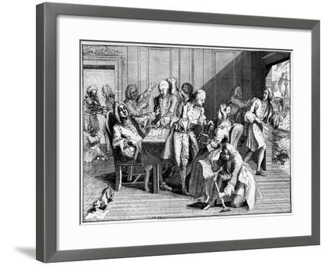 Satire on Walpole, 1738--Framed Art Print