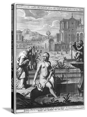 David Sees the Naked Bathsheba from the Roof of His Palace--Stretched Canvas Print