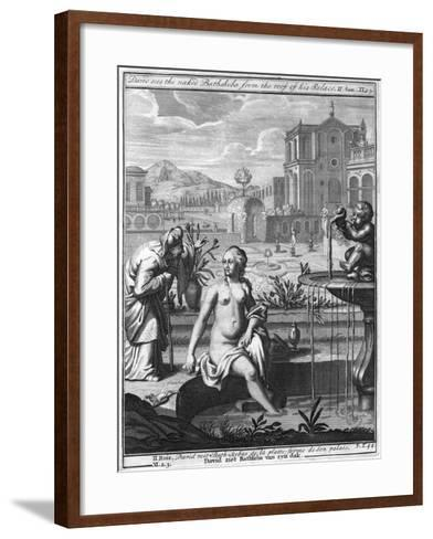 David Sees the Naked Bathsheba from the Roof of His Palace--Framed Art Print