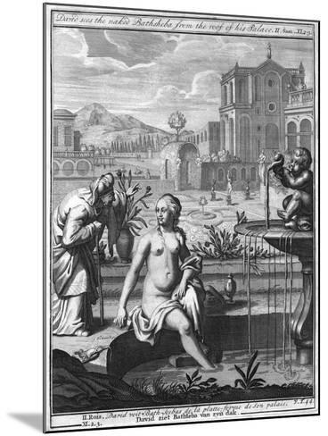 David Sees the Naked Bathsheba from the Roof of His Palace--Mounted Giclee Print