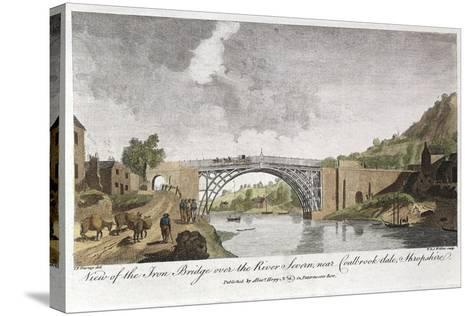 Iron Bridge across the Severn at Ironbridge, Coalbrookdale, England, Built 1779--Stretched Canvas Print