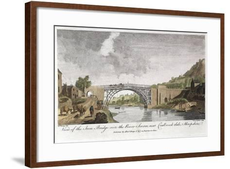 Iron Bridge across the Severn at Ironbridge, Coalbrookdale, England, Built 1779--Framed Art Print