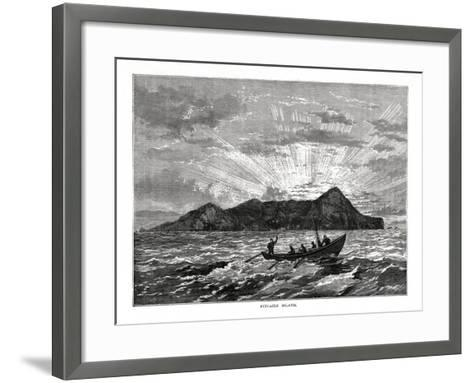 Pitcairn Island, Pacific Ocean, 1877--Framed Art Print
