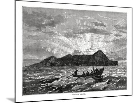Pitcairn Island, Pacific Ocean, 1877--Mounted Giclee Print