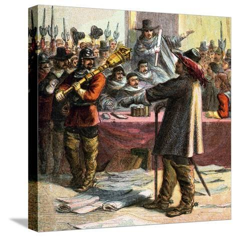 Cromwell Turns Out Parliament, 17th Century--Stretched Canvas Print