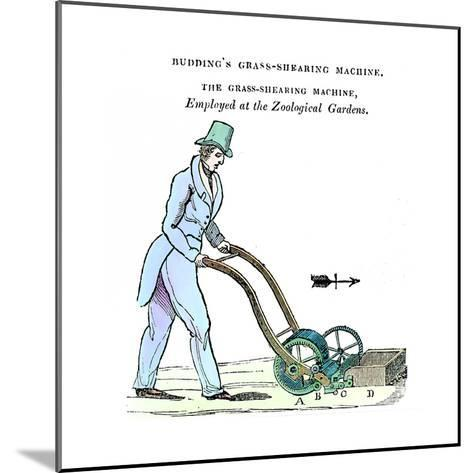 Budding's Grass-Shearing Machine, C1832--Mounted Giclee Print
