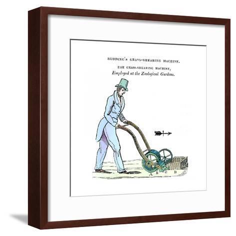 Budding's Grass-Shearing Machine, C1832--Framed Art Print