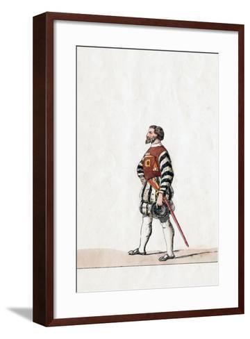 Baron, Costume Design for Shakespeare's Play, Henry VIII, 19th Century--Framed Art Print