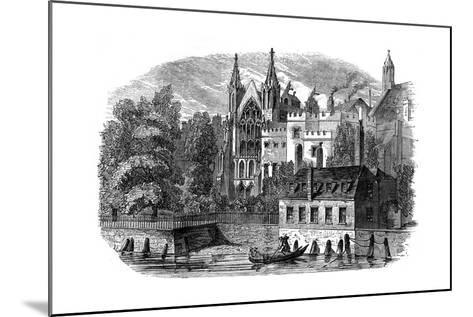 River Front of the Old House of Peers (House of Lord), London, 19th Century--Mounted Giclee Print