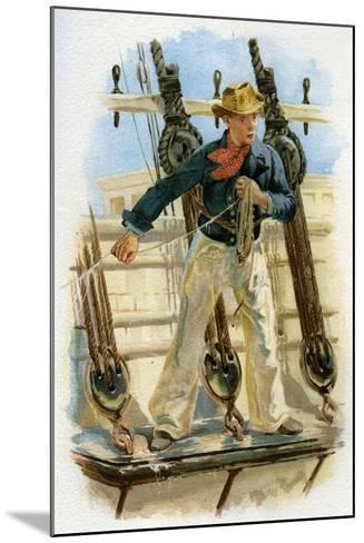 Heaving the Lead, 18th Century (C1890-C189)--Mounted Giclee Print