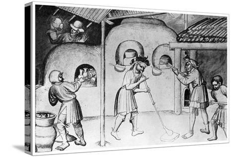 Medieval Glassworks, C1300--Stretched Canvas Print
