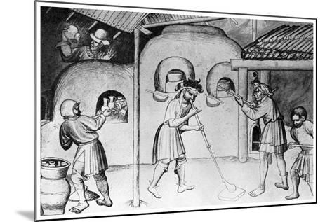 Medieval Glassworks, C1300--Mounted Giclee Print