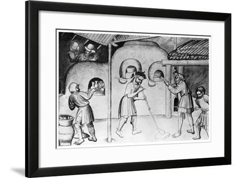 Medieval Glassworks, C1300--Framed Art Print