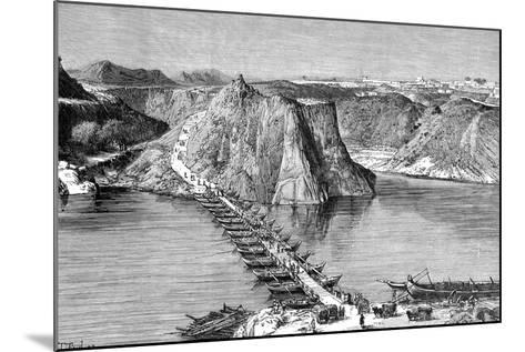 Bridge of Boats over the Indus at Khushalgarh, Pakistan, 1895--Mounted Giclee Print