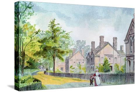 Workers' Cottages at Bournville, Birmingham, 1892--Stretched Canvas Print